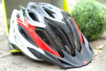 Шлем MET CROSSOVER бело-красно-черный